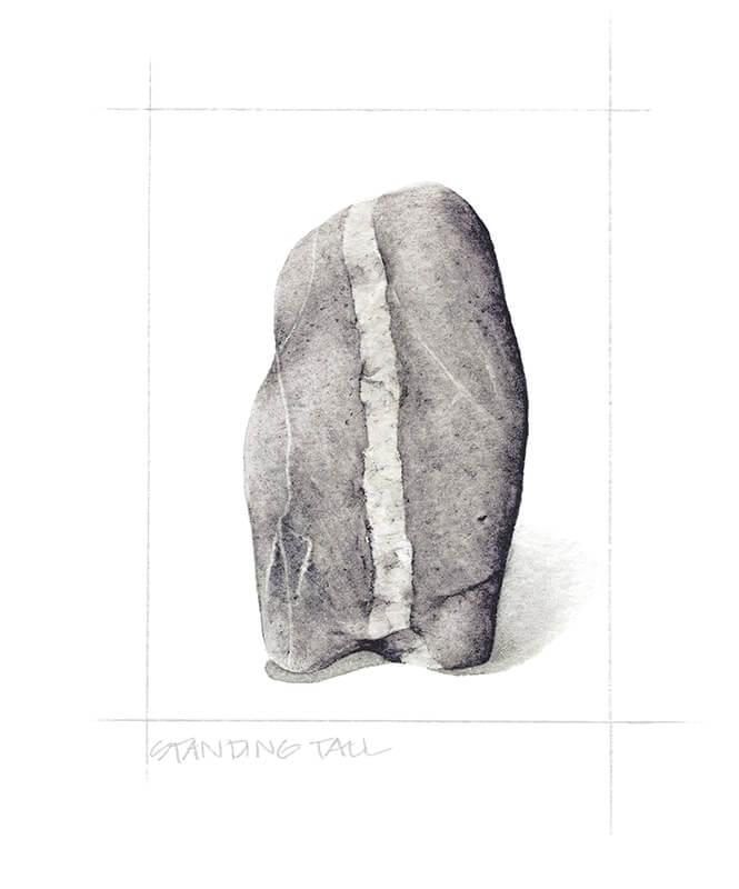 Standing Tall Beach Stone